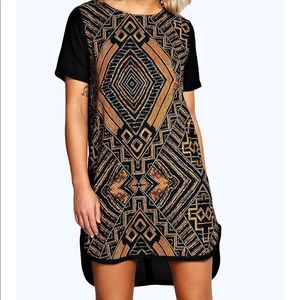 Boohoo - Caprice printed woven shift dress